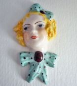 Miniature 'Lucky Penny' Lady Wall Mask c1935
